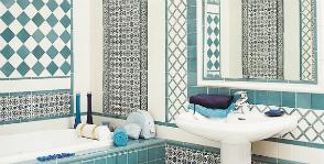 Плитка в ванной: расчет и схемы укладки