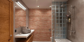 Ванная-лофт для мужчины: дизайнер Юлия Сологубова