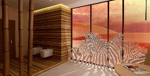 Как добиться эффекта африканского сафари в ванной?