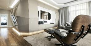 Футуристическая, но удивительно уютная квартира: Geometrix Design
