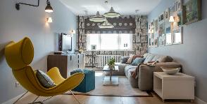 Проект гостиной для путешественника: дизайнер Мария Соловьева-Сосновик