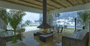 Гостиная на крыше: дизайн  Анастасии Киселевой и Натальи Шерстневой