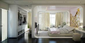 Как сделать из комнаты с лоджией эффектную спальню с гардеробом