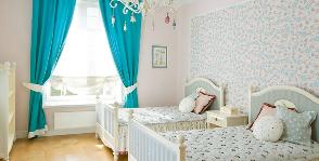 Детская для двух девочек: дизайнер Елена Мирошниченко