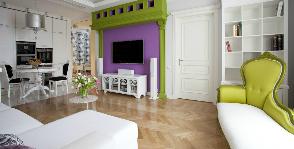 Ироничная квартира во французском стиле