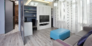 Квартира с раздвижными перегородками: дизайнер Лена Тамбиева