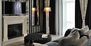 Гостиная в стиле ар деко в квартире для молодой девушки: дизайнер Алена Чашкина