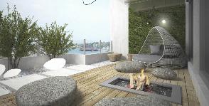 Уютная лоджия в стиле сада камней: проект студии Design MAKE