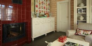 Как сделать изысканным маленький дом из бревна