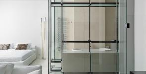 Три в одном: как совместить спальню с ванной и гардеробной