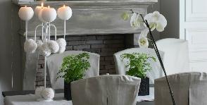 Снежная и нежная. Как декорировать «зимнюю» гостиную?