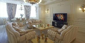 Гостиная-студия в стиле барокко: дизайнер Ольга Деревлёва
