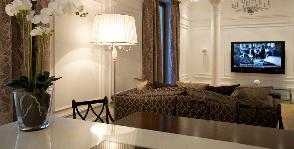 Современная классика – гостиная для двоих: компания ATMOSFERA