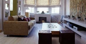 Гостиная с камином в квартире: дизайнер Алла Иванова