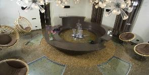 Зимний сад с фонтаном: дизайнер Ирина Старостина
