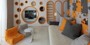 Стильная квартира с необычной детской: дизайн-студия Geometrix Design