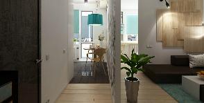 Квартира в скандинавском стиле для молодой семьи
