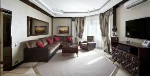Дизайн гостиной в стиле ар-деко: студия АВКУБЕ