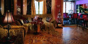 Золотистая гостиная ар-деко: дизайнер Тамара Лобжанидзе
