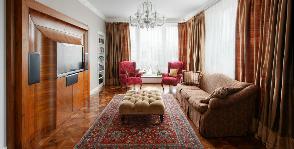 Московская гостиная в классическом стиле: архитектурное бюро Сретенка