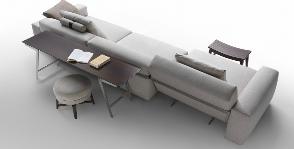 Flexform превращает диван в шезлонг