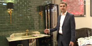 Малахитовая шкатулка «Декор Буржуа».<br> Видео с выставки Mosbuild 2015