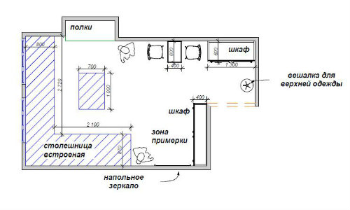 Дизайн мастерской для рукоделия планировка