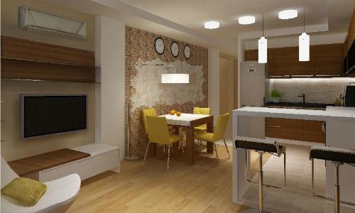 Дизайн кухни с зоной отдыха