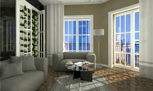 Комнатные растения в интерьере жилого дома проекты