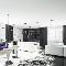 Черно-белая квартира, где основной декор— наполу: Geometrix Design