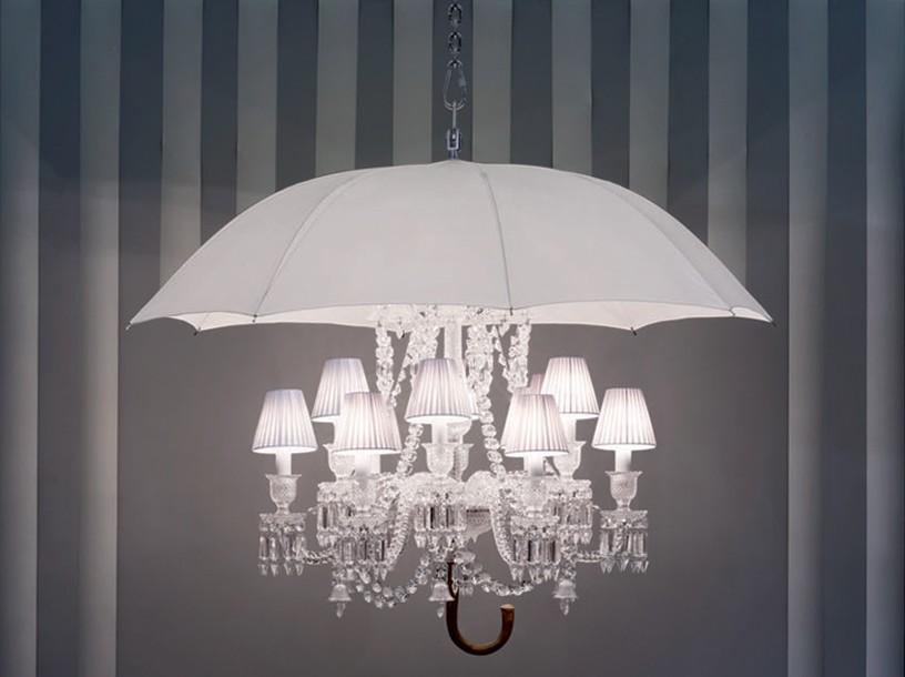 Люстры из зонтиков своими