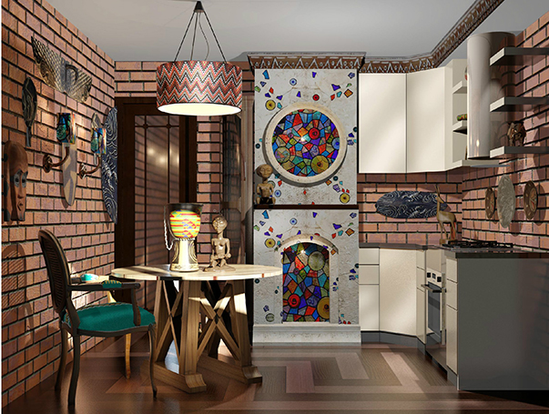 Дизайн ванной в доме п-44