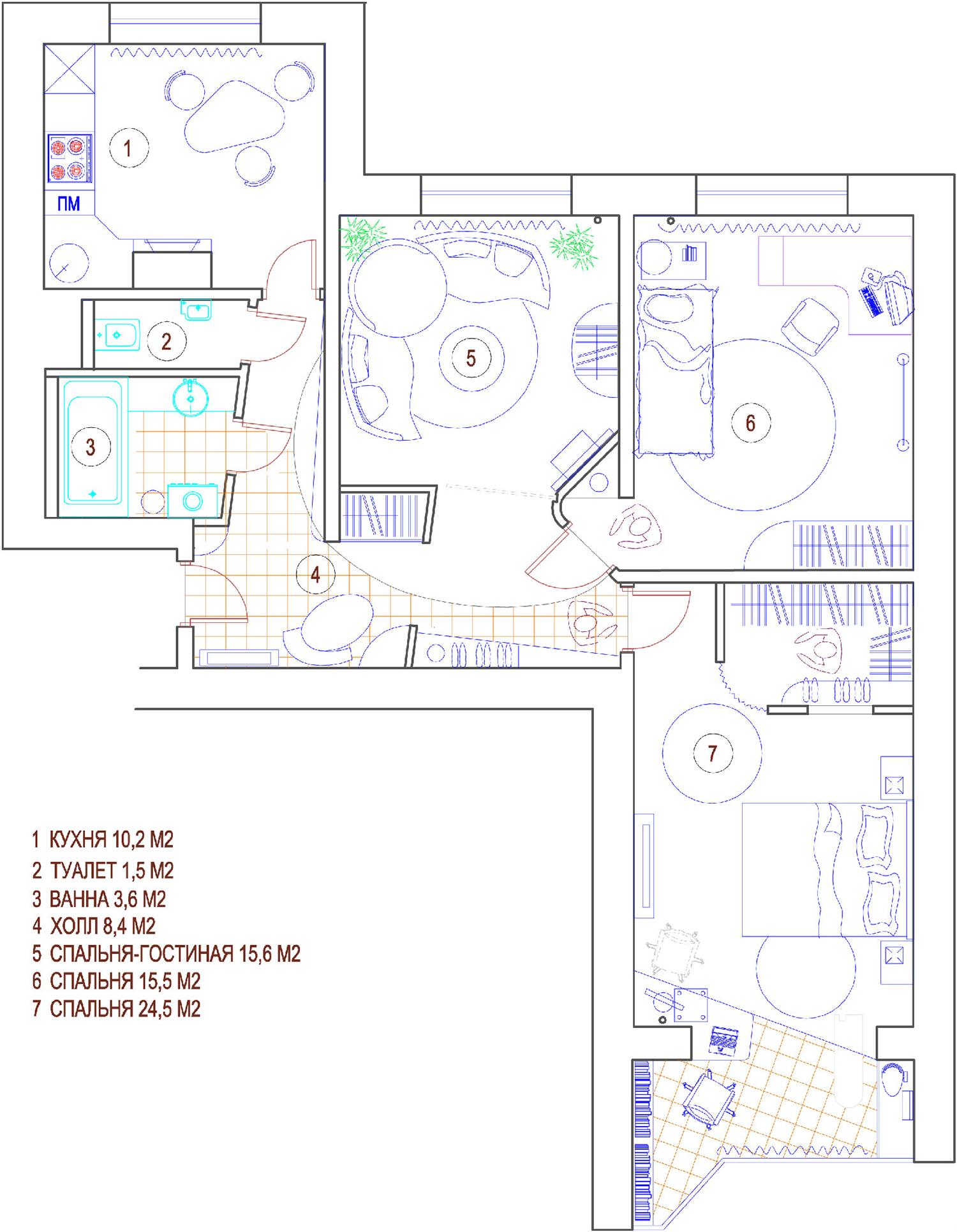 Перепланировка 2-х комнатной хрущевки - фото - Фото