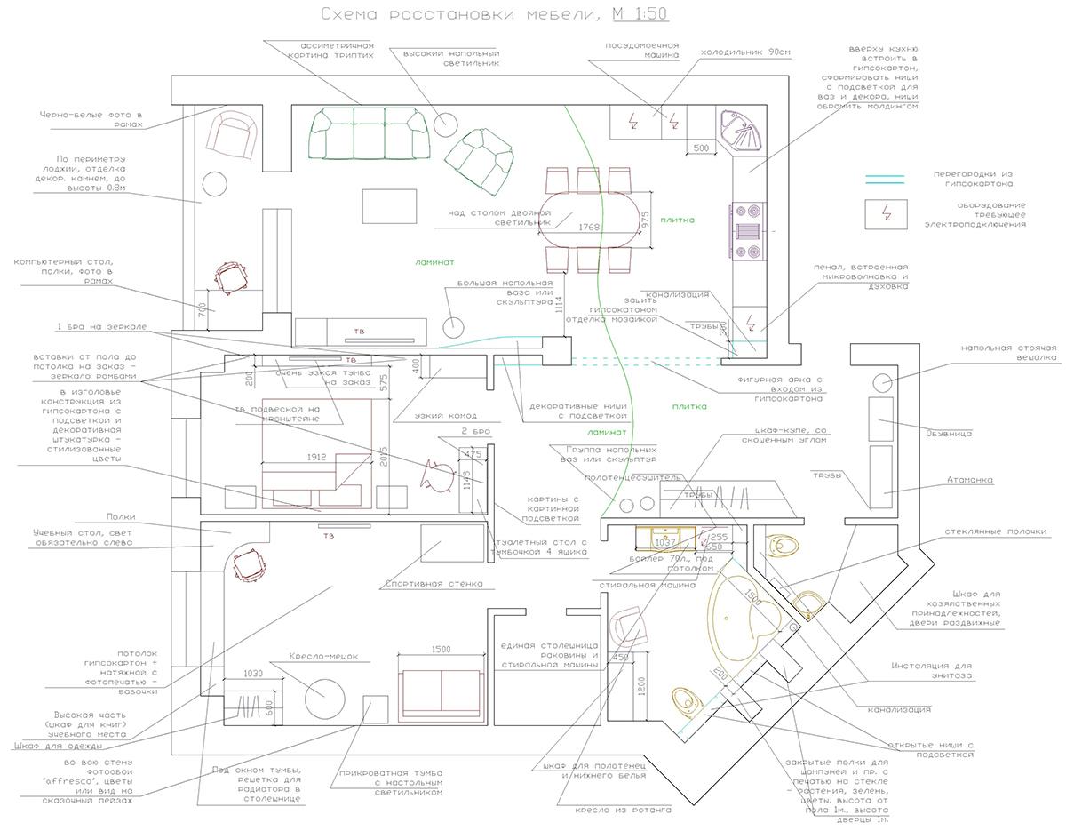 Перепланировка квартир серии II 49