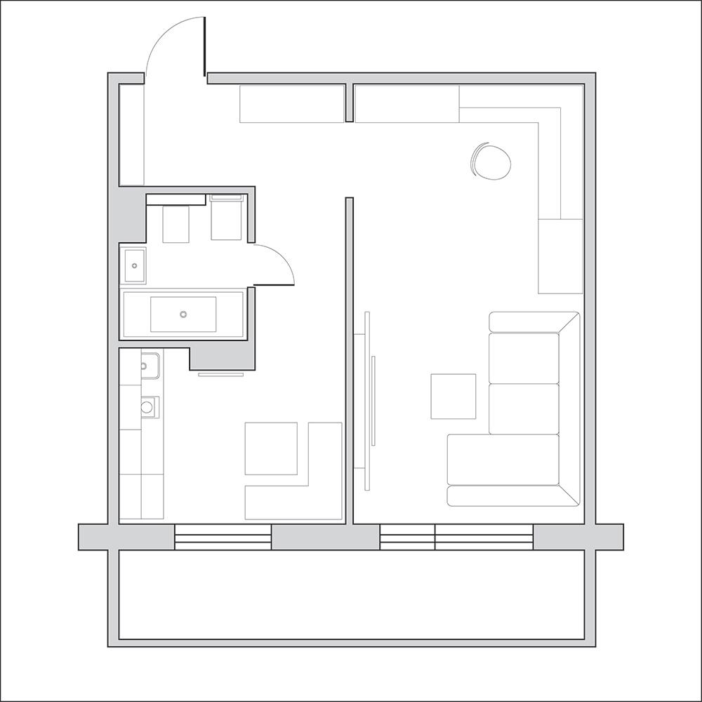 Планировка двухкомнатной квартиры - готовые схемы и планы