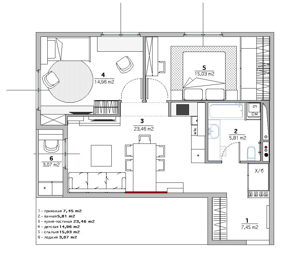 Планировка 2х комнатной квартиры - 65 фото оригинальный