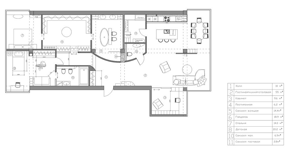 Дизайн квартир свободной планировки фото