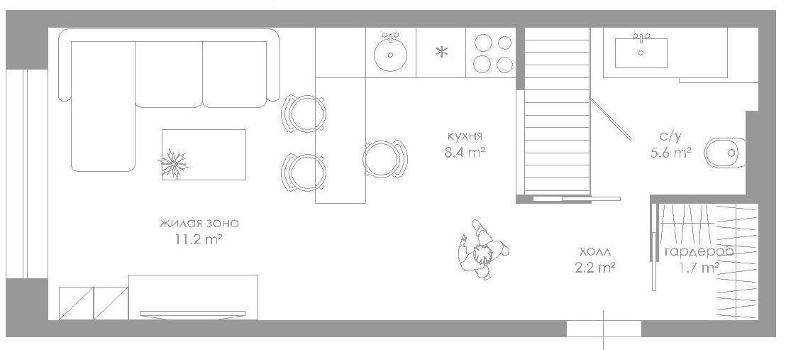 План квартиры свободной