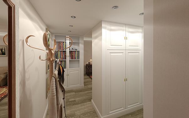 Интерьер коридора длинный узкий 113