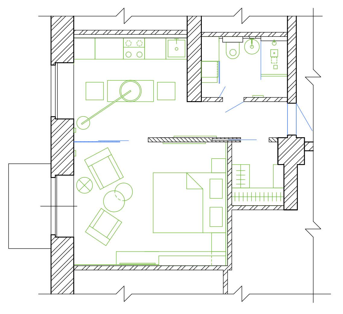 дизайн комнаты 18 м в однокомнатной квартире фото с перегородкой #16