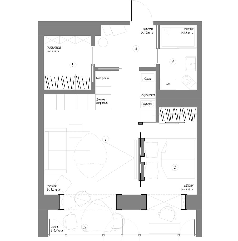 Перепланировка квартиры брежневки - двух, трех и