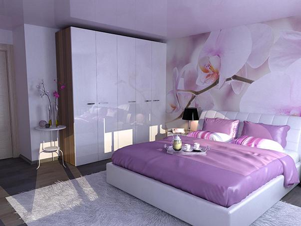 ремонт спальни с фотообоями: