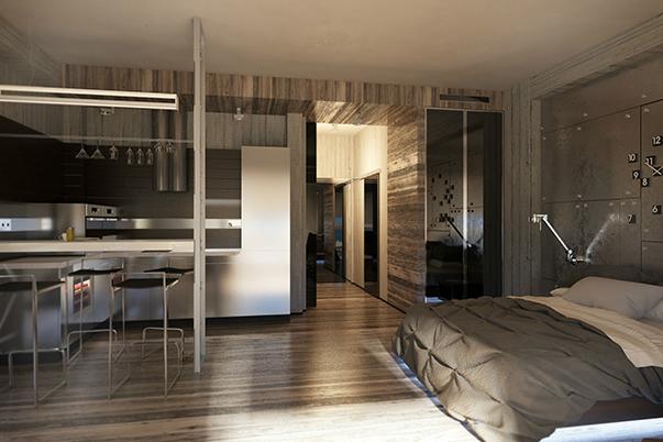 Как разместить кровать в квартире-студии