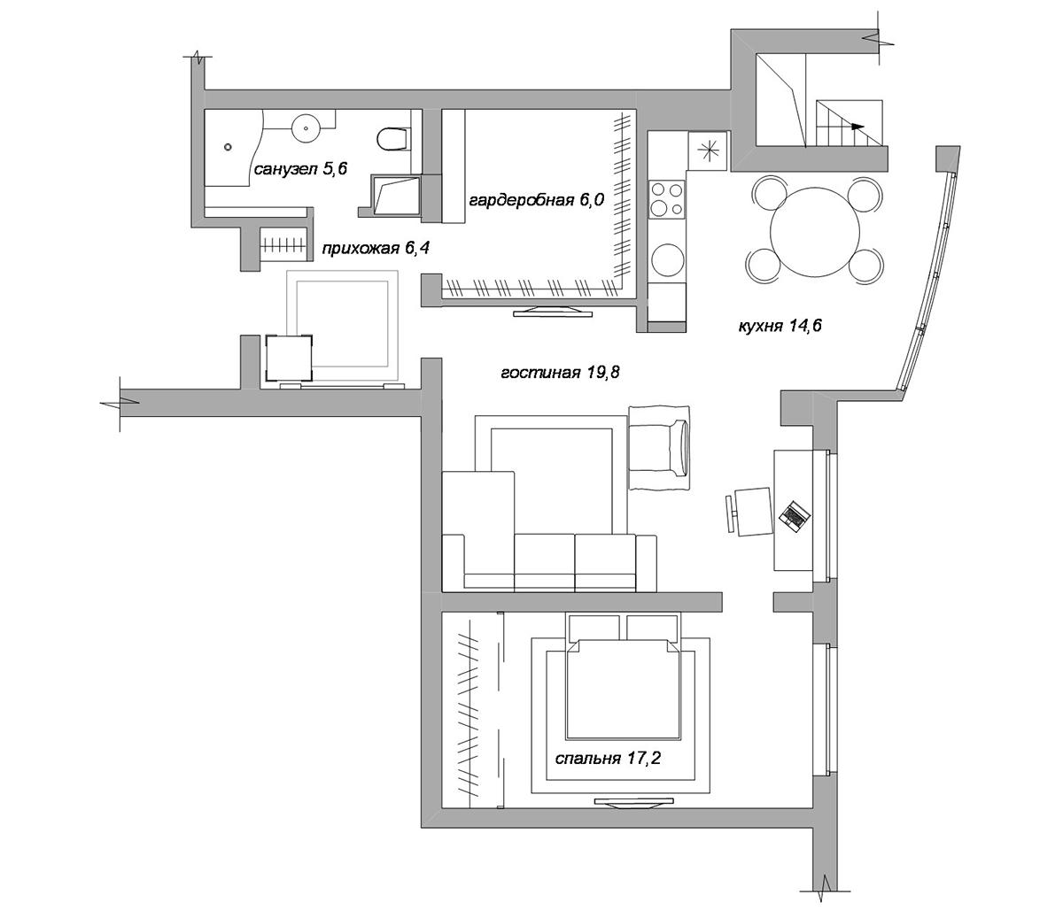 Продажа 2 комнатных квартир: Двухкомнатная квартира в
