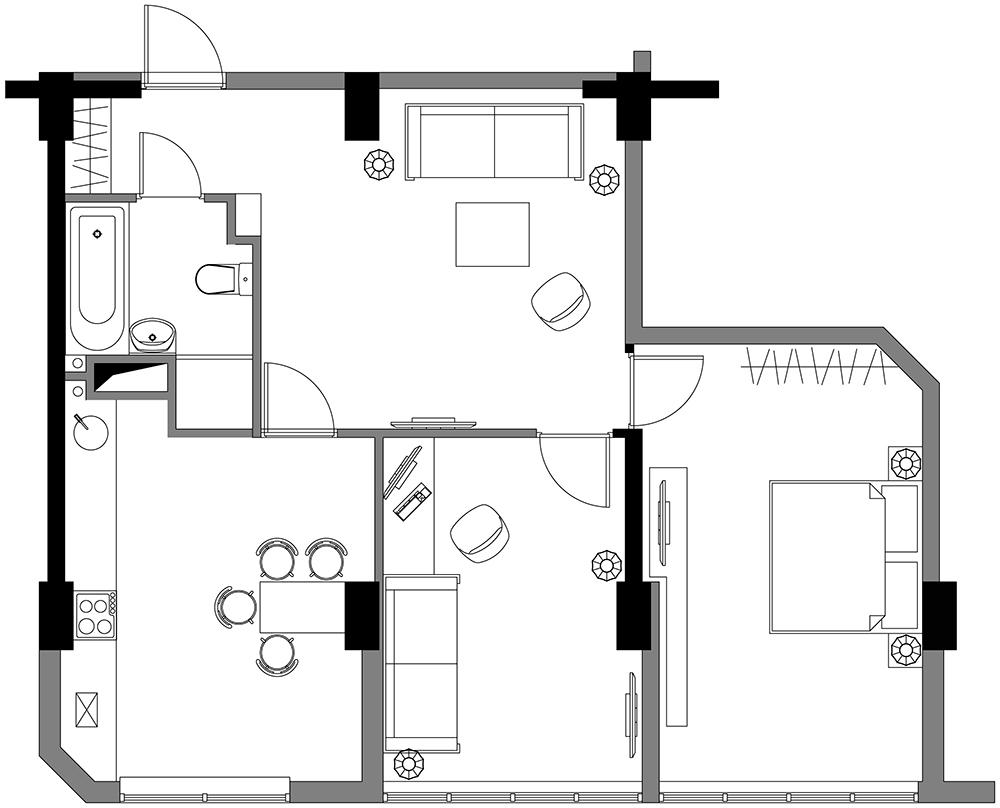 Как сделать окна в доме из блоков 668