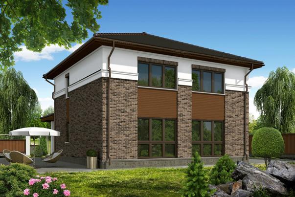 каркасный дом по проекту Вилла S