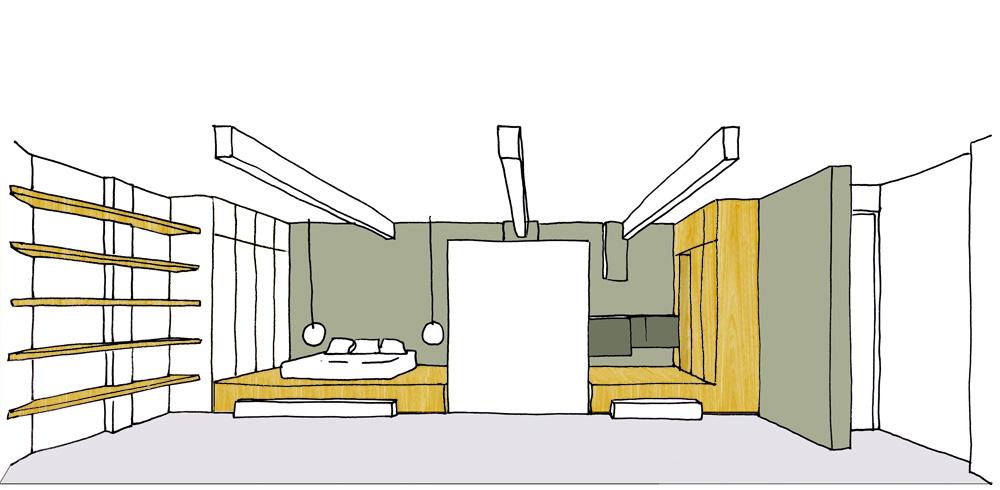 Фото спальня без окон дизайн