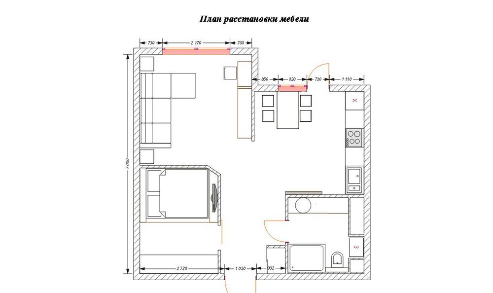 План-схема квартиры с