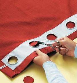 Как шить штору с люверсами