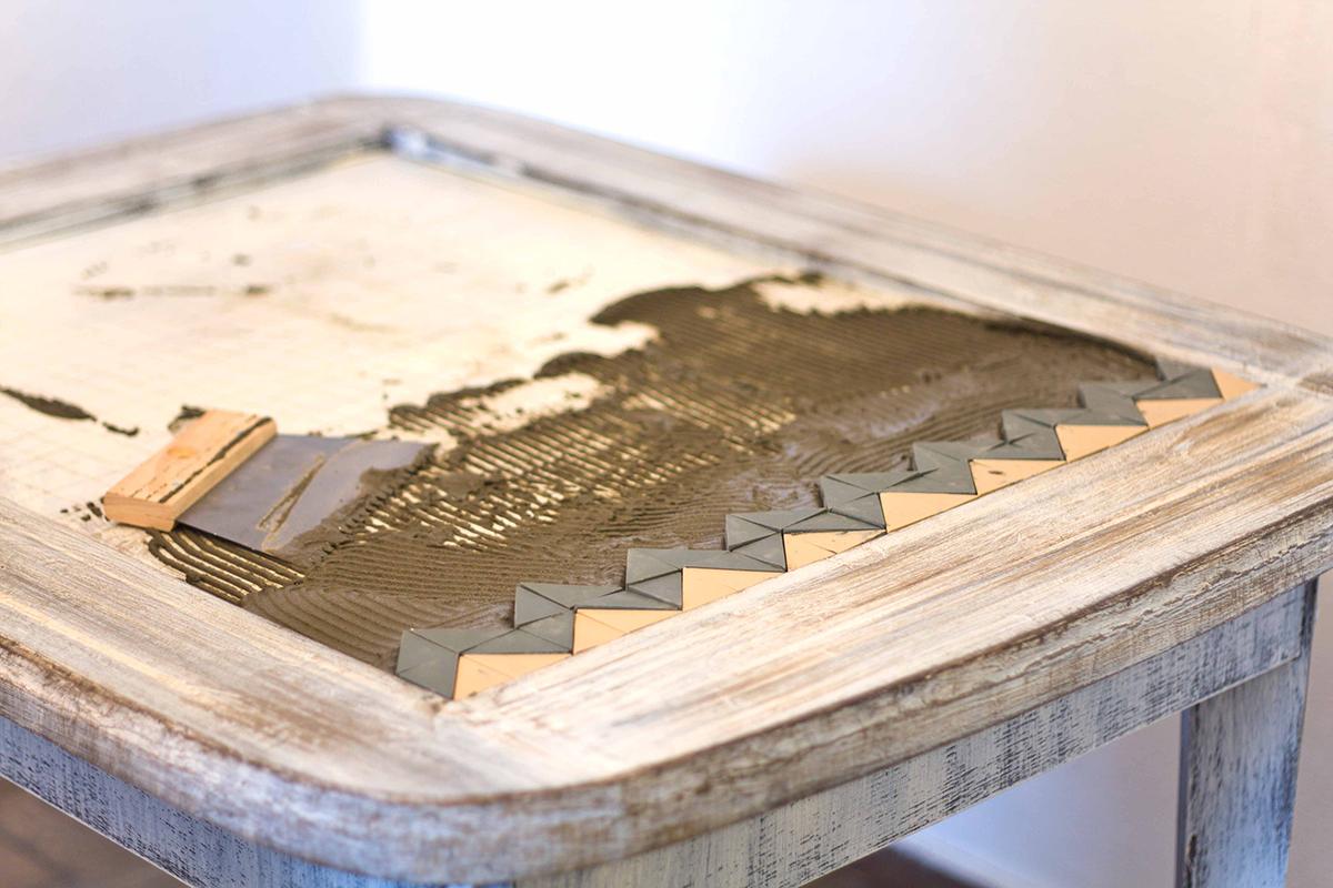 Обеденный стол своими руками из плитки